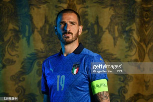 Leonardo Bonucci of Italy poses during the official UEFA Euro 2020 media access day at on June 02, 2021 in Florence, Italy.