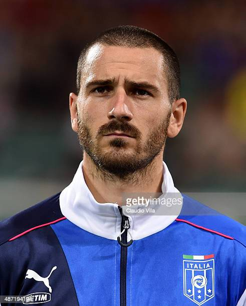 Leonardo Bonucci of Italy poses prior to the UEFA EURO 2016 Qualifier match between Italy and Bulgaria on September 6, 2015 in Palermo, Italy.