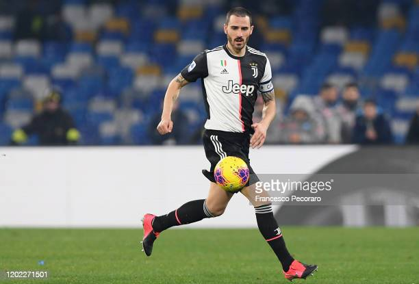 Leonardo Bonucci of Juventus during the Serie A match between SSC Napoli and Juventus at Stadio San Paolo on January 26, 2020 in Naples, Italy.
