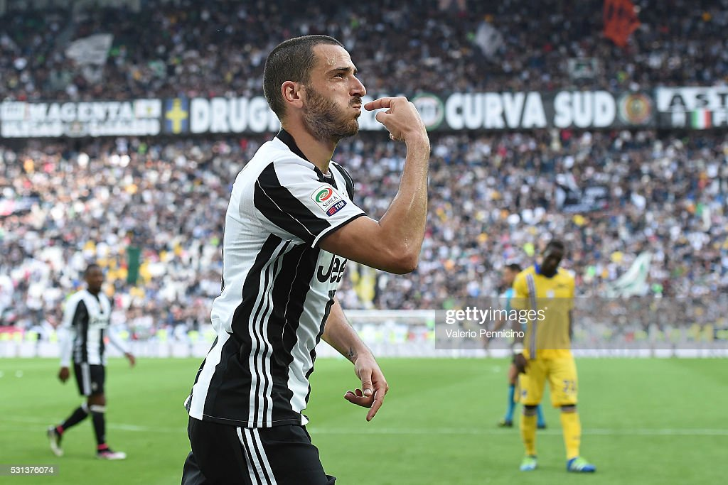 Leonardo Bonucci of Juventus FC celebrates after a goal during the Serie A match between Juventus FC and UC Sampdoria at Juventus Arena on May 14, 2016 in Turin, Italy.