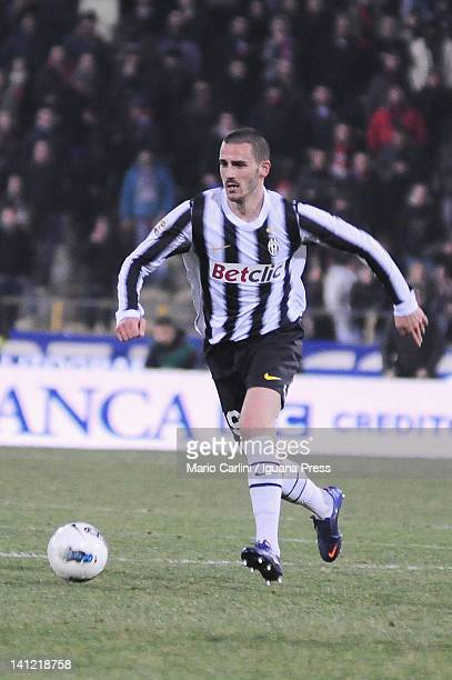 Leonardo Bonucci of Juventus FC in action during the Serie A match between Bologna FC and Juventus FC at Stadio Renato Dall'Ara on March 7 2012 in...