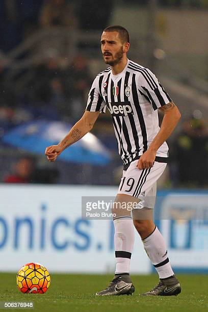 Leonardo Bonucci of Juventus FC in action during the TIM Cup match between SS Lazio and Juventus FC at Stadio Olimpico on January 20 2015 in Rome...