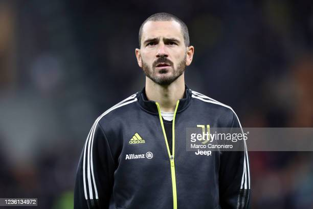 Leonardo Bonucci of Juventus Fc looks on during the Serie A match between Fc Internazionale and Juventus Fc. The match ends in a tie 1-1.