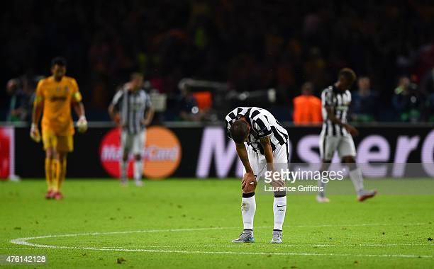 Leonardo Bonucci of Juventus looks dejected after defeat during the UEFA Champions League Final between Juventus and FC Barcelona at Olympiastadion...