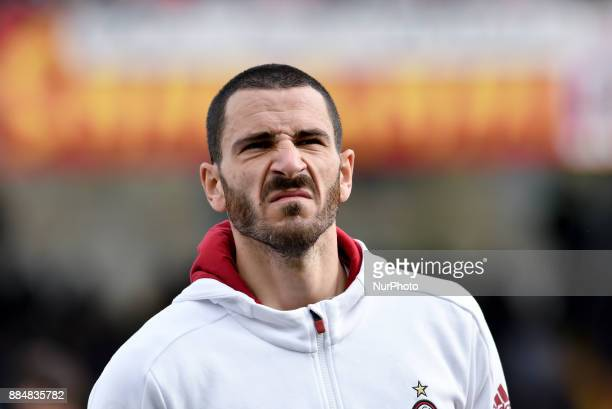 Leonardo Bonucci of Milan during the Serie A match between Benevento and Milan at Ciro Vigorito Stadium Benevento Italy on 3 December 2017