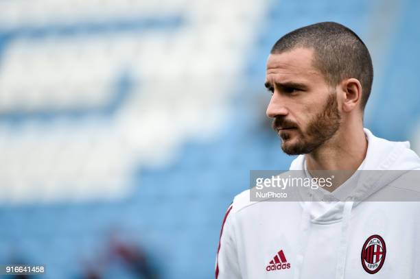 Leonardo Bonucci of Milan during the Serie A match between SPAL and AC Milan at Paolo Mazza Stadium Ferrara Italy on 10 February 2018