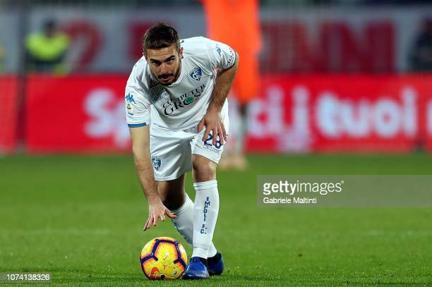Leonardo Capezzi of Empoli FC in action during the Serie A match between ACF Fiorentina and Empoli at Stadio Artemio Franchi on December 16 2018 in...