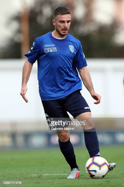 Leonardo Capezzi of Empoli FC in action during training session on September 18 2018 in Empoli Italy