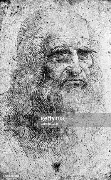 Leonardo da Vinci from self portrait of the Italian Renaissance painter sculptor writer scientist architect and engineer 14521519