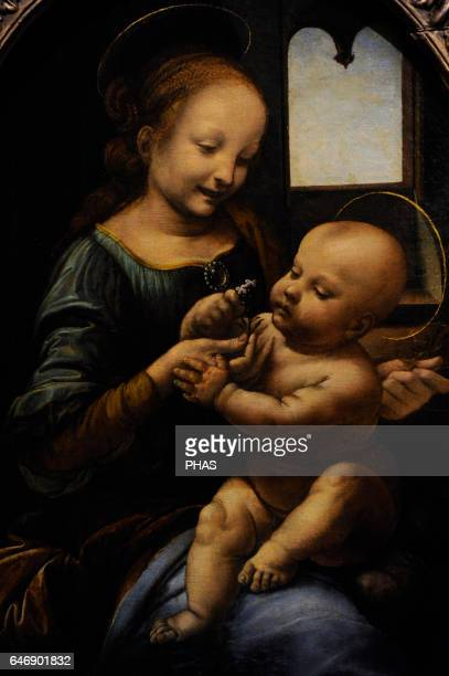 Leonardo da Vinci Italian polymath High Renaissance Florentine School Madonna and the Child 14781480 Oil on canvas transferred from panel The State...