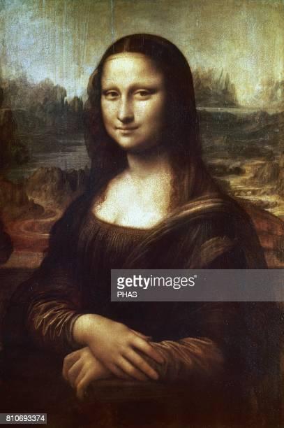 Leonardo da Vinci Italian Renaissance artist Mona Lisa Leonardo began painting it in 1503 or 1054 in Florence Italy Poplar wood panel Portrait of...