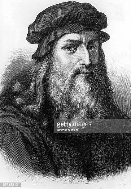 Leonardo da Vinci Künstler Italien Stich