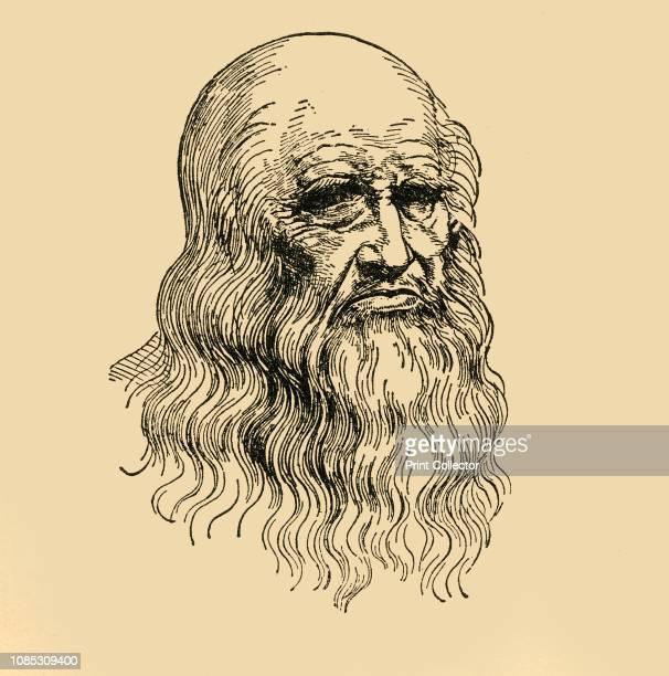 Leonardo Da Vinci'' Portrait of Italian Renaissance artist sculptor engineer and inventor Leonardo da Vinci whose scientific drawings featured ideas...