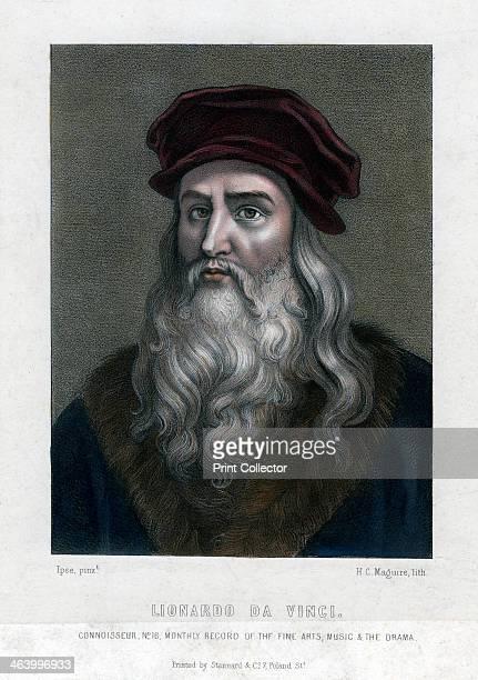 Leonardo da Vinci Portrait of Leonardo Handcoloured later