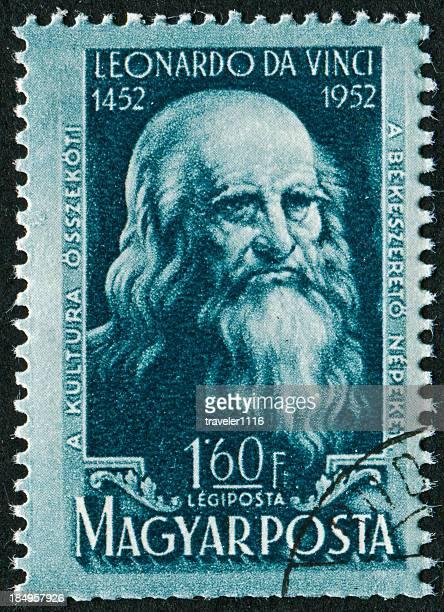 レオナルド・ダ・ヴィンチ stamp - 発明家 ストックフォトと画像