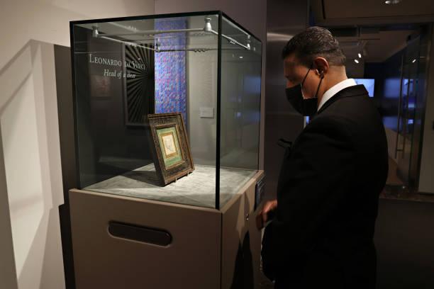 "NY: Christie's Auctions Leonardo Da Vinci's ""Head Of A Bear"""