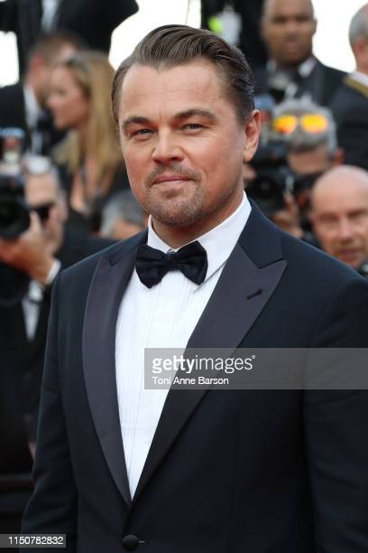 Leonardo di Caprio attends the screening of Once Upon A Time In Hollywood during the 72nd annual Cannes Film Festival on May 21 2019 in Cannes France