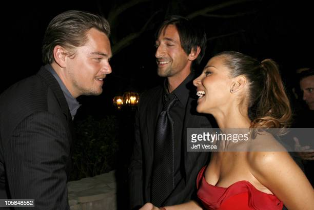 Leonardo DiCaprio Adrien Brody and Elsa Pataky during Giorgio Armani Prive in LA Inside at Green Acres in Los Angeles California United States
