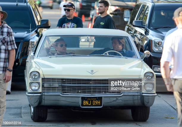 Leonardo Dicaprio and Brad Pitt are seen on July 23 2018 in Los Angeles California