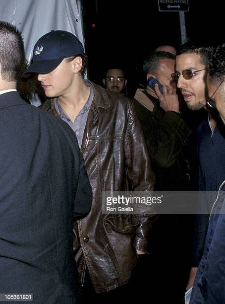 Leonardo DiCaprio and David Blaine during Launch of Victoria's Secret New Line 'Angels' at Laura Belle April 8 1997 at Laura Belle in New York City...