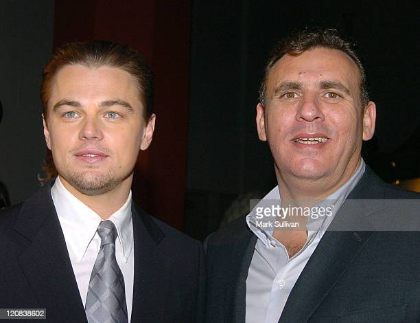 Leonardo DiCaprio and Graham King producer during The Aviator Los Angeles Premiere Arrivals at Grauman's Chinese Theatre in Hollywood California...