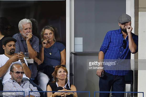 Leonardo DiCaprio and his mother Irmelin Indenbirken Bobby Zarin and Jill Zarin attend day 10 of the 2014 US Open at USTA Billie Jean King National...