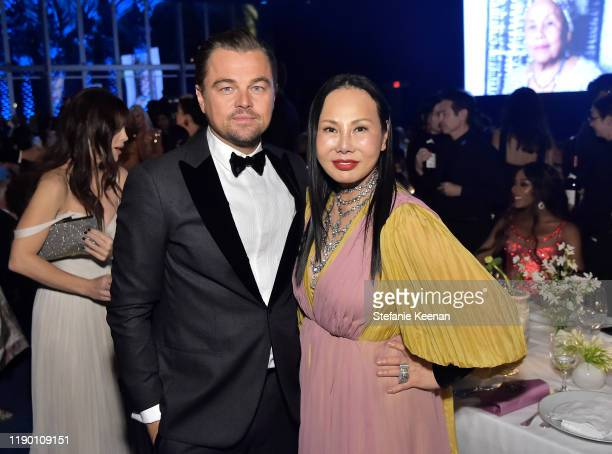 Leonardo DiCaprio and LACMA Trustee Eva Chow wearing Gucci attend the 2019 LACMA Art Film Gala Presented By Gucci at LACMA on November 02 2019 in Los...