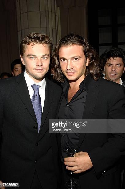 Leonardo DiCaprio and Manuele Malenotti Creative Director Belstaff