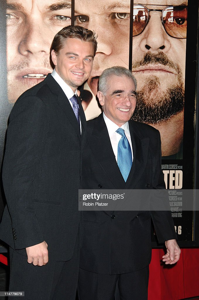 Leonardo DiCaprio and Martin Scorsese during 'The Departed' New York City Premiere at Ziegfeld Theater in New York City, New York, United States.