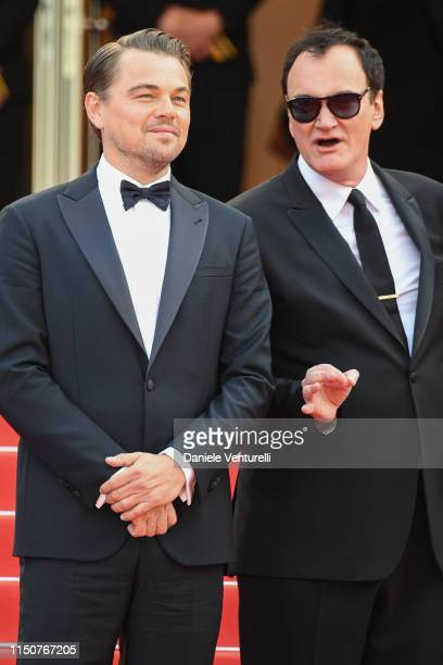 Leonardo DiCaprio and Quentin Tarantino attend the screening of Once Upon A Time In Hollywood during the 72nd annual Cannes Film Festival on May 21...