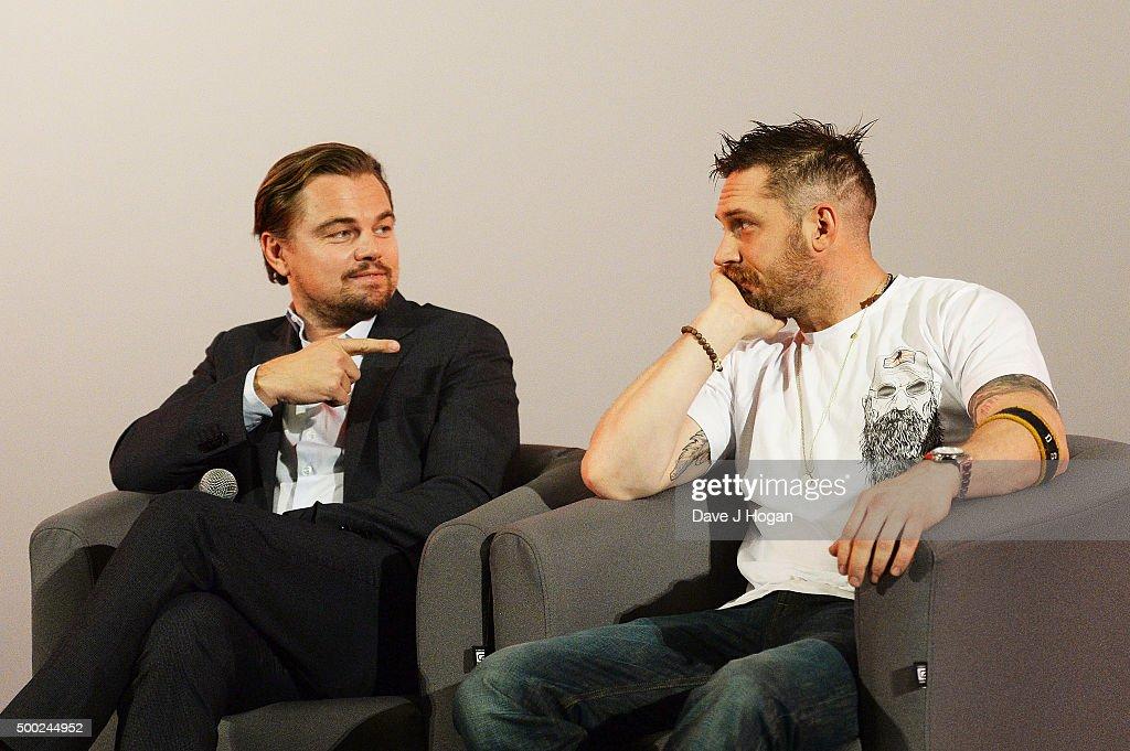 Leonardo DiCaprio attends a Q&A following a BAFTA screening of 'The Revenant' : News Photo