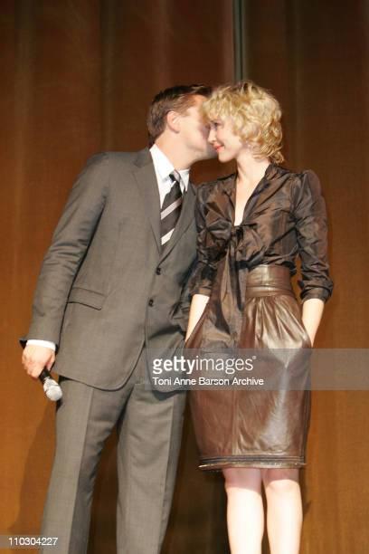 Leonardo DiCaprio and Vera Farmiga during 'The Departed' Paris Premiere at Le Grand Rex in Paris France