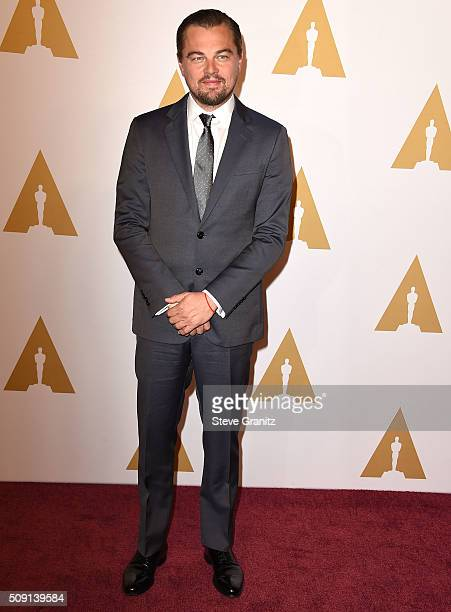 Leonardo DiCaprio arrives at the 88th Annual Academy Awards Nominee Luncheon on February 8 2016 in Los Angeles California