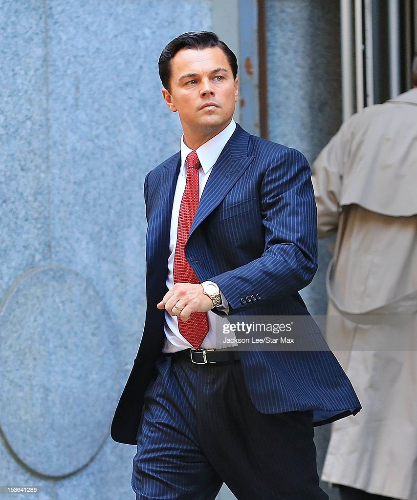 Leonardo DiCaprio as seen on the set of 'Wolf of Wall Street' on September 25, 2012 in New York City.