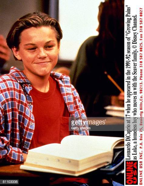 Leonardo Dicaprio At 17 When He Appeared In The 199192 Season Of 'Growing Pains' As Luke A Homeless Boy Who Moves In With The Seaver Family