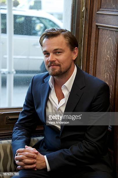 Leonardo DiCaprio at 'The Great Gatsby' Press Conference at The Plaza Hotel Oak Bar on April 26 2013 in New York City