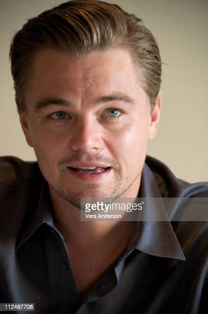 Leonardo DiCaprio at the 'Revolutionary Road' press conference at the Four Seasons Hotel on November 16 2008 in Beverly Hills California