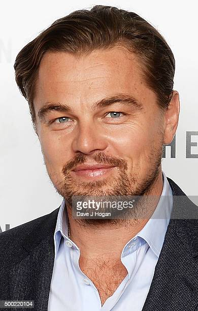 Leonardo DiCaprio attends a BAFTA screening of 'The Revenant' at Empire Leicester Square on December 6 2015 in London England