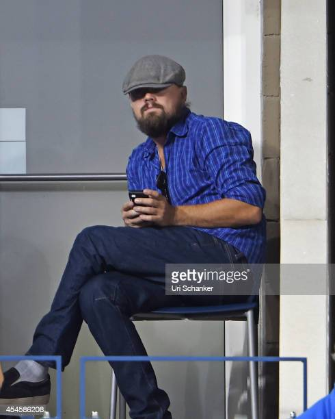 Leonardo DiCaprio attends day 10 of the 2014 US Open at USTA Billie Jean King National Tennis Center on September 3, 2014 in New York City.