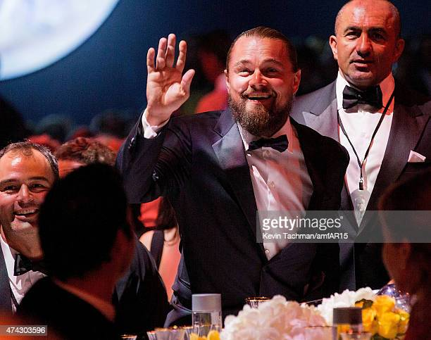 Leonardo DiCaprio attends dinner for the amfAR 22nd Annual Cinema Against AIDS Gala at Hotel du CapEdenRoc on May 21 2015 in Cap d'Antibes France