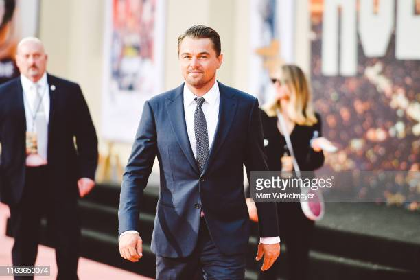 Leonardo DiCaprio attends Sony Pictures' Once Upon A TimeIn Hollywood Los Angeles Premiere on July 22 2019 in Hollywood California