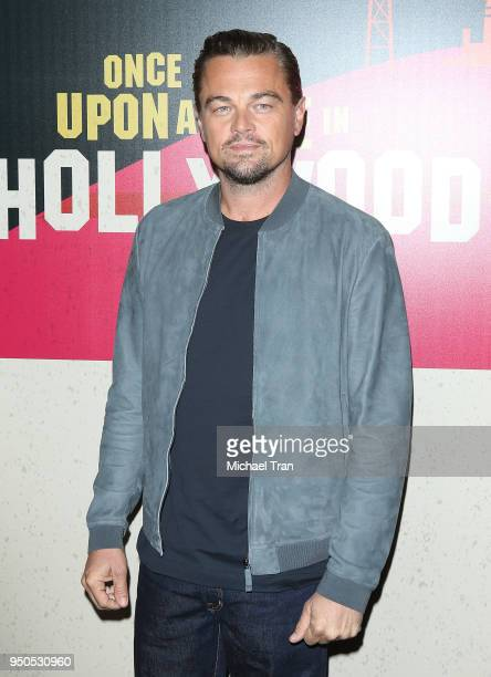 Leonardo DiCaprio attends the 2018 CinemaCon Sony Pictures Entertainment exclusive presentation 2018 Summer Beyond photo op held at The Colosseum at...