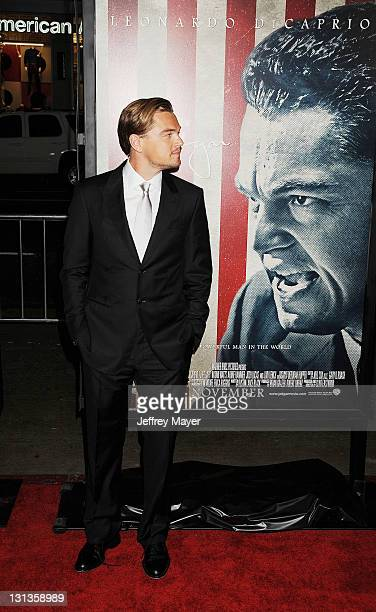"""Leonardo DiCaprio attends the AFI Fest 2011 Opening Night Gal World Premiere Of """"J. Edgar""""at Grauman's Chinese Theatre on November 3, 2011 in..."""