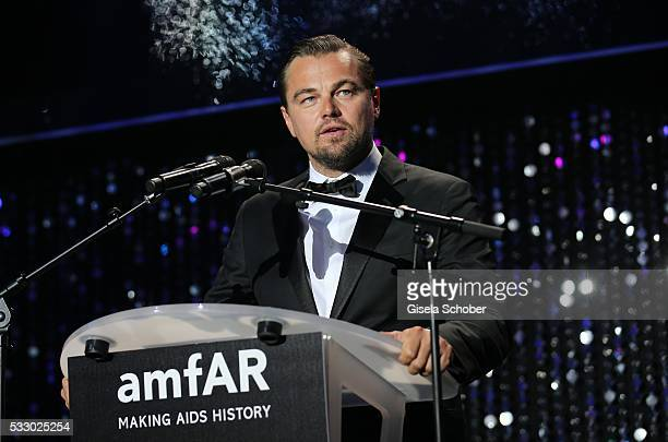 Leonardo DiCaprio attends the amfAR 's 23rd Cinema Against AIDS Gala at Hotel du Cap-Eden-Roc on May 19, 2016 in Cap d'Antibes, France.