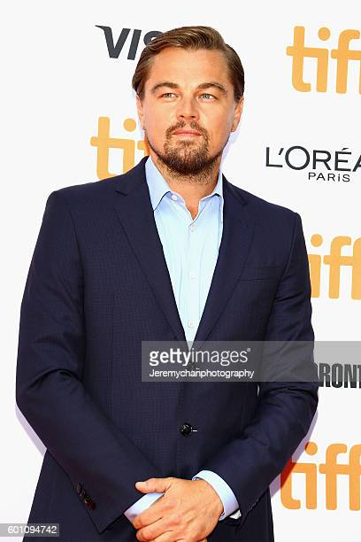 Leonardo DiCaprio attends the 'Before The Flood' premiere held at Princess of Wales Theatre during the Toronto International Film Festival on...