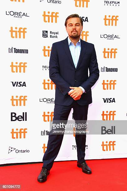 Leonardo DiCaprio attends the Before The Flood premiere held at Princess of Wales Theatre during the Toronto International Film Festival on September...