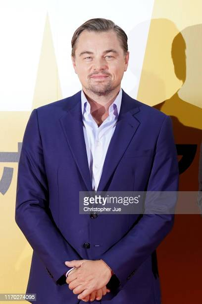 Leonardo DiCaprio attends the Japan premiere of 'Once Upon A Time In Hollywood' on August 26 2019 in Tokyo Japan