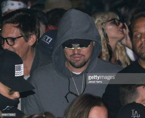 Leonardo DiCaprio attends The Levi's Brand Presents NEON CARNIVAL with Tequila Don Julio on April 14 2018 in Thermal California