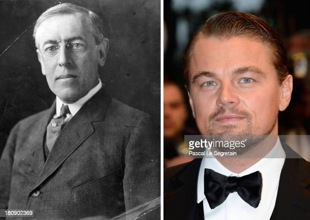 In this composite image a comparison has been made between Woodrow Wilson and Leonardo DiCaprio Leonardo DiCaprio will reportedly Woodrow Wilson in a...
