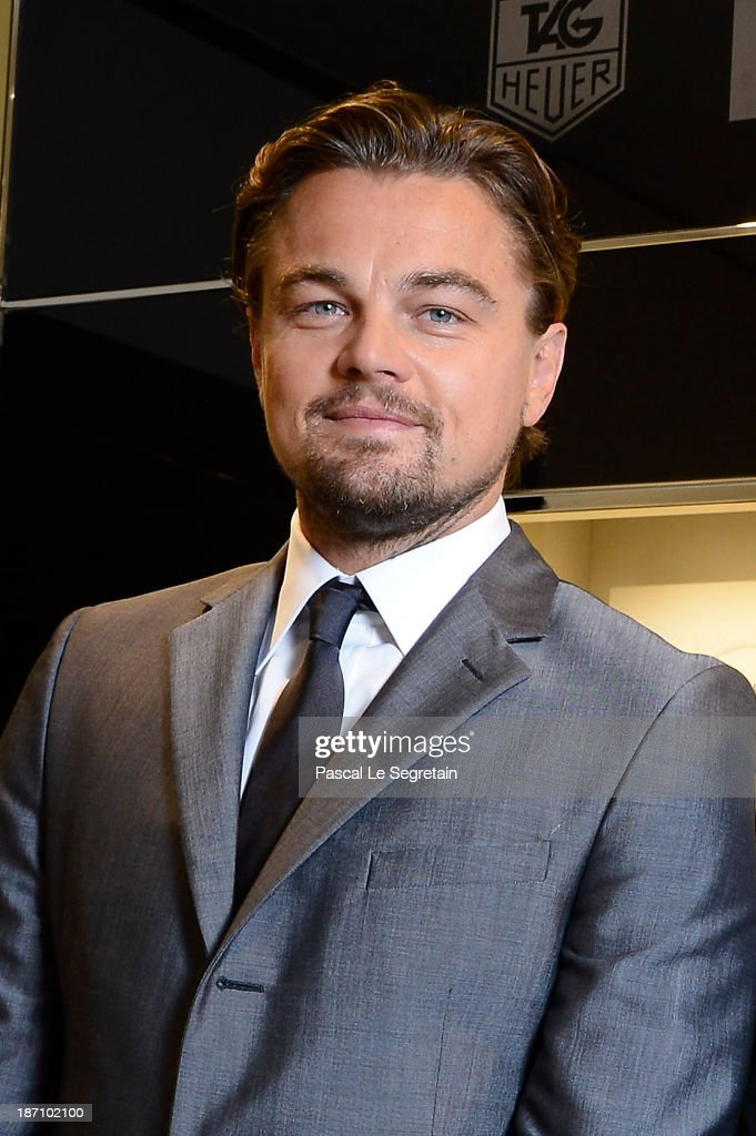 Leonardo DiCaprio attends the Opening of the TAG Heuer New Boutique, Followed By An Evening Celebrating 50 years of Carerra In Pavillon Vendome on November 6, 2013 in Paris, France.